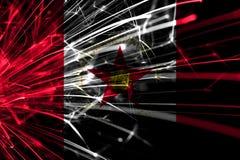 Birmingham, Alabama abstrakcjonistyczni fajerwerki błyska flagę Nowego Roku, bożych narodzeń i święta państwowego pojęcie, ameryk ilustracja wektor