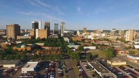 Birmingham Alabama Downtown City Skyline Urban Landscape stock video footage