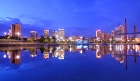 Birmingham Alabama horisont Arkivbilder