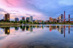 Birmingham Alabama horisont Arkivbild