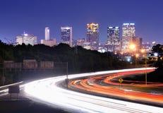 Birmingham Alabama Interstate horisont arkivbilder
