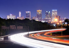 Birmingham, Alabama Interstate Skyline Stock Images