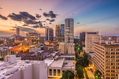 Birmingham, Alabama, paesaggio urbano di U.S.A. fotografia stock libera da diritti