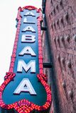Birmingham Alabama Sign. This is the original Alabama sign hanging on the Alabama theater Royalty Free Stock Photos