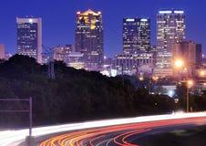 Birmingham, Alabama Skyline. Skyline of Birmingham, Alabama from above Interstate 65 Stock Image