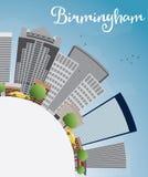 Birmingham (Alabama) Skyline with Grey Buildings and copy space Royalty Free Stock Photos