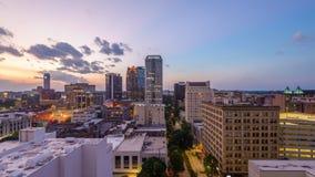 Birmingham Alabama Skyliune arkivfilmer