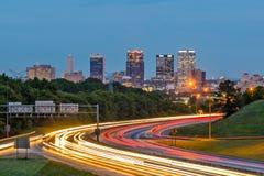 Birmingham, Alabama, USA. Downtown city skyline royalty free stock image