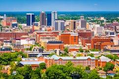 Birmingham, Alabama, USA Skyline. Birmingham, Alabama, USA downtown skyline from above at dusk royalty free stock images
