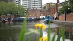 Birmingham, Anglia, Czerwiec 03 2019 Widok Birmingham kanał zbiory
