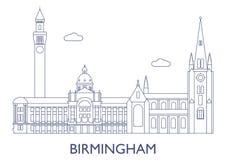 birmingham As construções as mais famosas da cidade Imagem de Stock Royalty Free