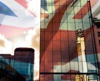 Birmingham blandade Glass byggnader med dramatiska moln med Uni Arkivfoton