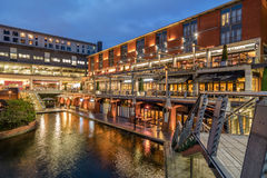 Birmingham Canal and The Mailbox Royalty Free Stock Photo