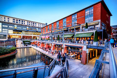 Birmingham Canal, The Mailbox Royalty Free Stock Images