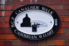 Birmingham Canalside Walk - Cambrian Wharf Royalty Free Stock Photography