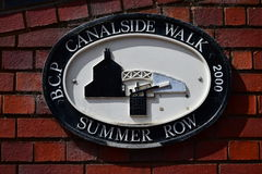 Birmingham Canalside Walk - Summer Row Royalty Free Stock Photo