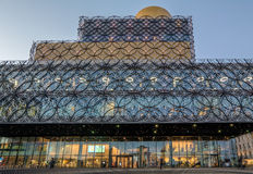 Birmingham Central Library At Dusk Stock Photo
