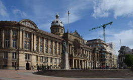 Birmingham centrum på morgon Arkivbild