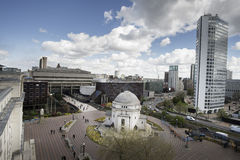 Birmingham City Center Centenary Sq. View from new public library Stock Photography