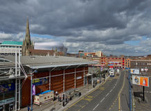 Birmingham Downtown on a cloudy but sunny day Royalty Free Stock Photography
