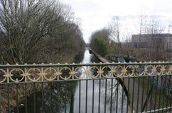 Birmingham dragväg från bron royaltyfria bilder