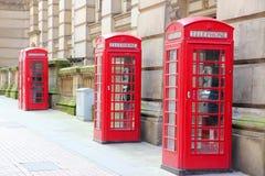 Birmingham, England. Birmingham red telephone boxes. West Midlands, England stock photo