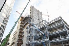 Birmingham, Großbritannien - 6. November 2016: Baustelle im Birmingham-Stadtzentrum Lizenzfreie Stockfotografie