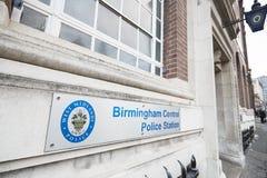 Birmingham, Großbritannien - 6. November 2016: Zeichen außerhalb des Birmingham-Zentralpolizeireviers Stockfoto