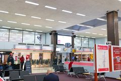 Birmingham het UK - 03 03 19: Het internationale station van Birmingham onder de luchthaven stock fotografie