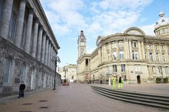 Birmingham, het UK - 6 November 2016: Buitenkant van het Museum en Art Gallery van Birmingham royalty-vrije stock afbeeldingen