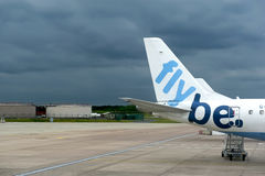 Birmingham International Airport. Cloudy summer day on the Birmingham International Airport, England Stock Photos