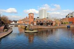 Birmingham kanal royaltyfria bilder
