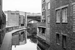 Birmingham-Kanal-alte Linie Ansicht von Ludgate-Hügel Lizenzfreie Stockfotografie