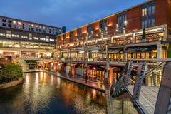 Birmingham-Kanal und der Briefkasten lizenzfreies stockfoto
