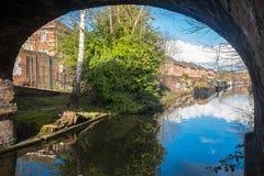 Birmingham-Kanal und Kanal-Boote Lizenzfreies Stockfoto
