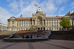 Birmingham kommunfullmäktige på en Sunny Day Royaltyfri Bild