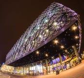 Birmingham Library Centenary Square Evening Shot Stock Image