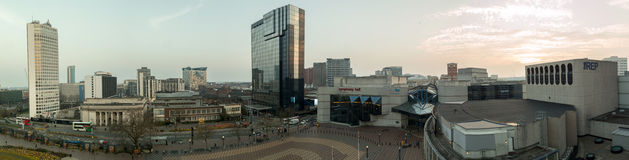 Birmingham miasta panorama Zdjęcie Royalty Free
