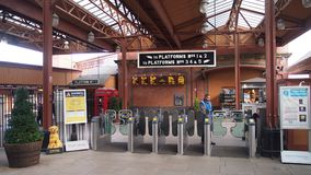 Birmingham Moor Street Station, England. Birmingham Moor Street is one of three mail railway stations in the city centre of Birmingham, Great Britain royalty free stock images