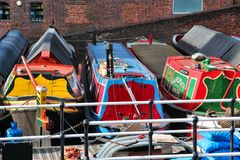 Birmingham narrowboats Royalty Free Stock Photography