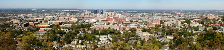 Birmingham Panoramic. The city of Birmingham, Alabama as seen from a distance Stock Image