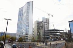 Birmingham, R-U - 6 novembre 2016 : Chantier de construction pour Alpha Tower In Birmingham photo stock