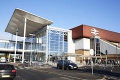 Birmingham, R-U - 6 novembre 2016 : Extérieur de station de train internationale de Birmingham à l'aéroport Image stock