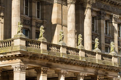 Birmingham's Council house. Statues on Birmingham's Council house, United Kingdom royalty free stock images