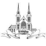 Birmingham stadsetikett LoppEngland tecken Royaltyfri Bild