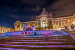 Birmingham stadsstad Hall At Dusk Royaltyfri Foto