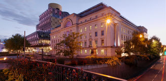 Birmingham and Baskerville House/Civic Centre Royalty Free Stock Photography
