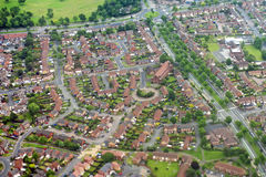 Birmingham (UK). Aerial view of the Birmingham suburbs. West Midlands (UK