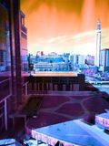 Birmingham uk. Birmingham City uk including the BT tower and financial district Royalty Free Stock Photography