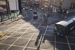 Aerial View of City Street in Birmingham UK royalty free stock photo